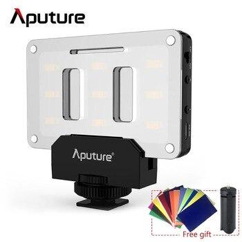 Aputure AL-M9 Pocket Mini LED Luce Video TLCI/CRI 95 + Sulla fotocamera Luce di Riempimento Per La Macchina Fotografica DSLR video di Nozze Luce di Registrazione