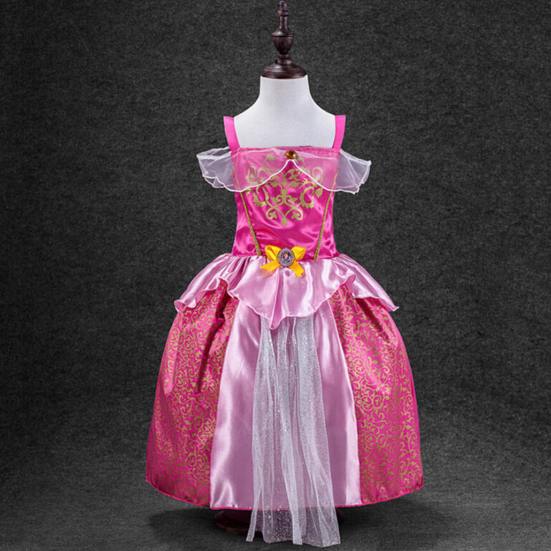 2017 New Summer Little Girls Princess Dresses 2-12Year Old High Quality Cotton Cosplay Costume Birthday Party Gift Daily Wear