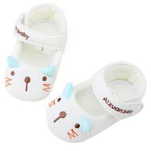 2017 Summer Cute Baby Girls First Walkers Cotton Cartoon Soft with Pattern Shading Soft Sole Baby Toldder Prewalkers Shoe M1