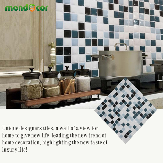 Self Adhesive Mosaic Tile Wall Decal Diy Kitchen Backsplash Contact Paper Bathroom Stickers Home Decor Vinyl Wallpaper