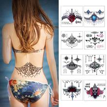 1Pc 10.5cmx6.5cm Large Tattoo Stickers Women Waist Back Temporary Flash Tattoos Body Art Tattoo RP2