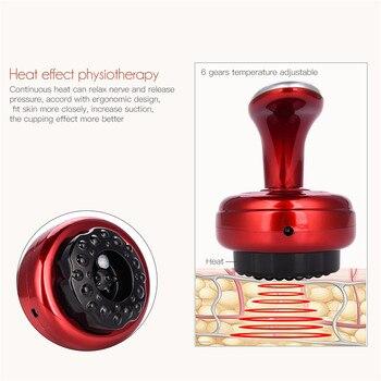 6 Gears Scraping Detoxification Beauty Device Body Guasha Scrape Therapy Machine Vacuum Suction Massager Health Care