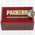 Year 1966 Green Bay Packers Super Bowl Championship Ring 10-13Size STARR Fans Gift With High Quality Wooden Box