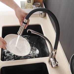 Image 2 - Кухонный смеситель, светодиодный светильник, смеситель для раковины, латунь, матовый никель, Torneira Tap, кухонные краны, горячий и холодный смеситель для ванны 7661
