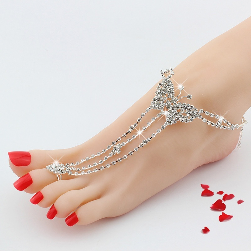 delicate pendant cool jewery women heart pin golden anklets summer girl silvery lady euramerican charming beach anklet
