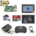 """Raspberry Pi 3 Модель B + 7 """"Сенсорный Экран + Крепление + HDMICable + Клавиатура + Чехол + Вентилятор + радиаторы + EU Power 16 ГБ SD Карты"""