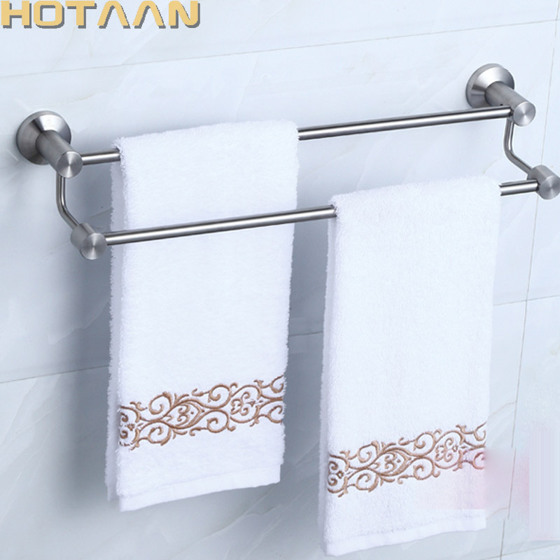 Wall mounted 60cm Double Towel Bar/Towel Holder, 304# Stainless Steel Made,Chrome Finish, Bathroom hardware,Bathroom accessories polished chrome towel ring vintage decor wall mounted 304 stainless steel and copper bathroom hardware accessories high grade