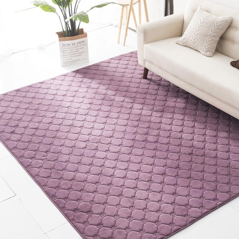 Salon canapé tapis Simple mode salon tapis chambre antidérapant grand tapis corail polaire maison Tatami décoratif tapis de sol