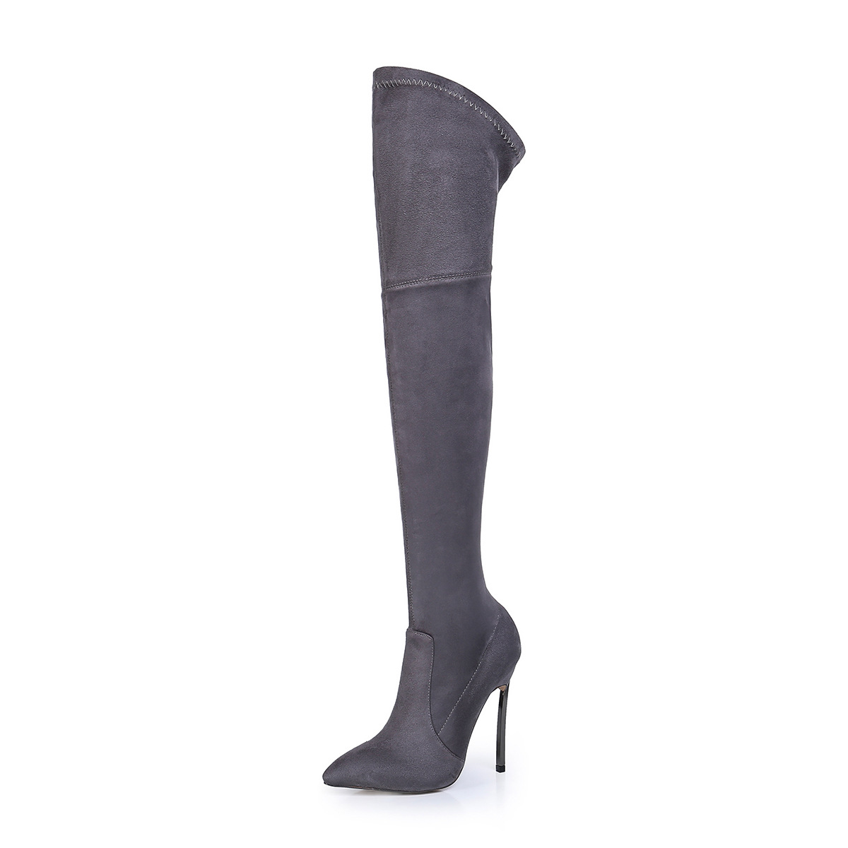 Ylqp Large Size 35-43 Over The Knee Boots Fashion Shoes Women Keep Warm Snow Boots High Heels Shoes Winter Boots Flock ppnu woman winter nubuck genuine leather over the knee snow boots women fashion womens suede thigh high boots ladies shoes flats
