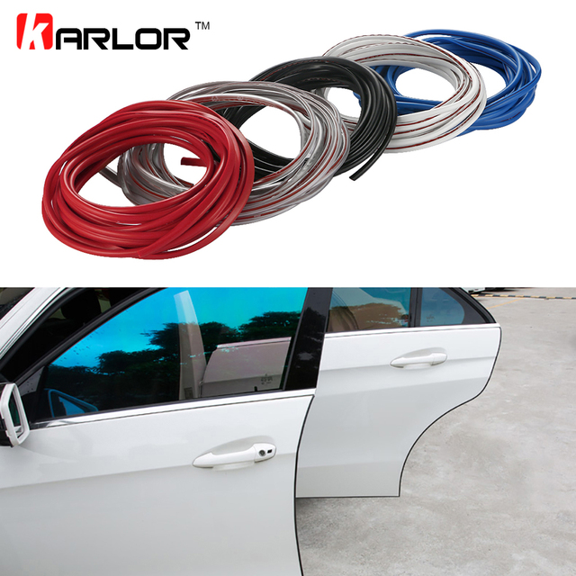 5M Universal Door Edge Guards Trim Molding Protection Decoration Strip Scratch Protector Auto Door Guard Crash & 5M Universal Door Edge Guards Trim Molding Protection Decoration ...