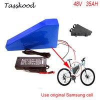 Электрический велосипед Батарея 48 В 35AH треугольник Батарея использовать samsung ячеек 48 В 1000 Вт bafang bbs03 Электрический велосипед литиевая батар