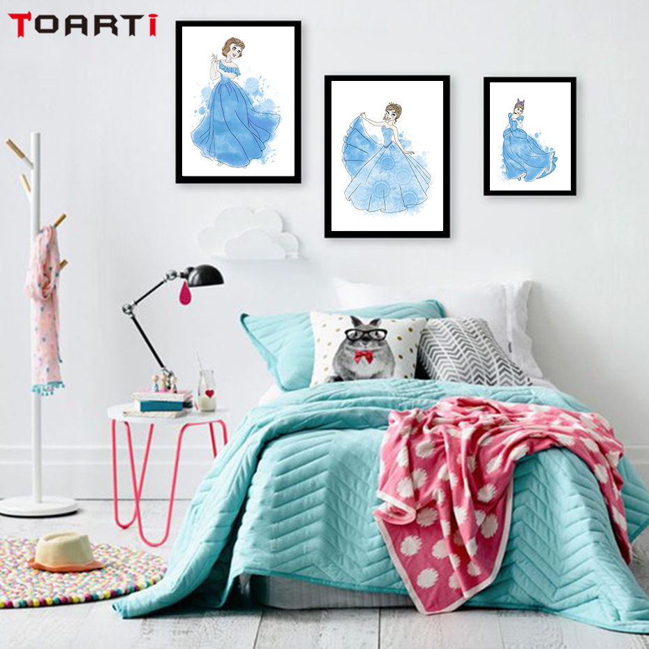 N-rdico-moderno-Rosa-Guarda-chuva-Menina-Prints-Poster-Dos-Desenhos-Animados-Retratos-Da-Parede-Da.jpg_640x640