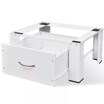 VidaXL Washing Machine Floor Stand Refrigerator Floor Trolley Fridge Stand Washing Machine Holder With Drawer