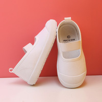 Kids Canvas Sneakers Student School White Shoes Toddler Boys Casual Sport Shoes Plain Color Girls Flats Teen Sneakers