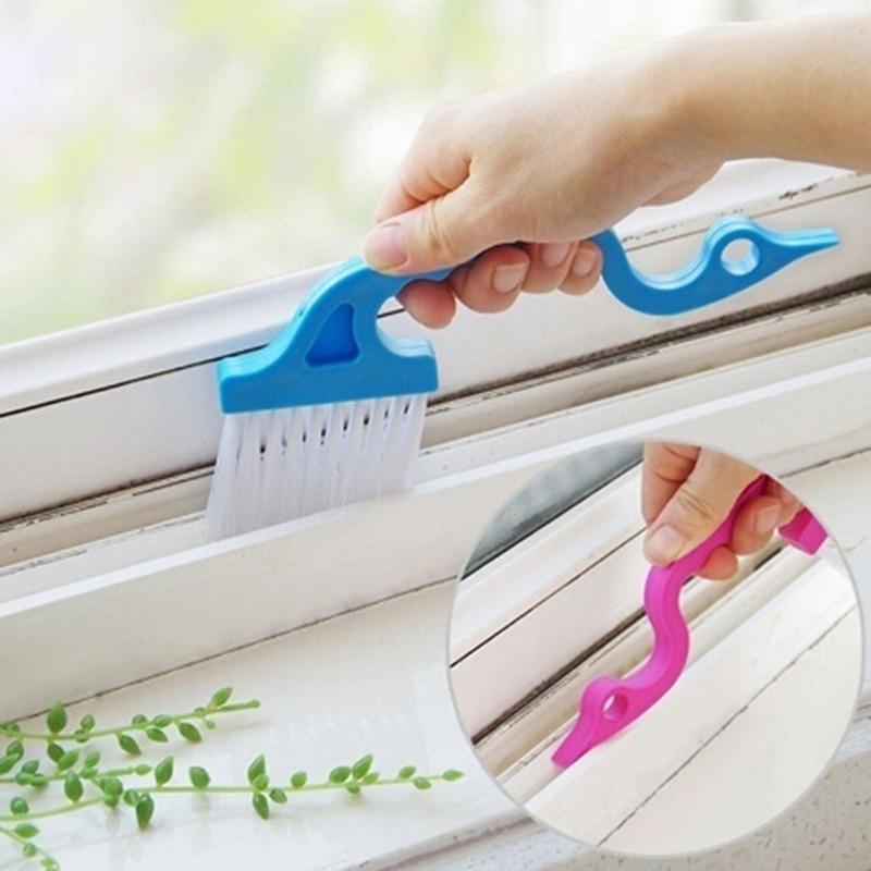 Kitchen Screen Window Slot Reinigungsbürste Multifunktionale WC-Glasbodenreiniger Dekorationszubehör