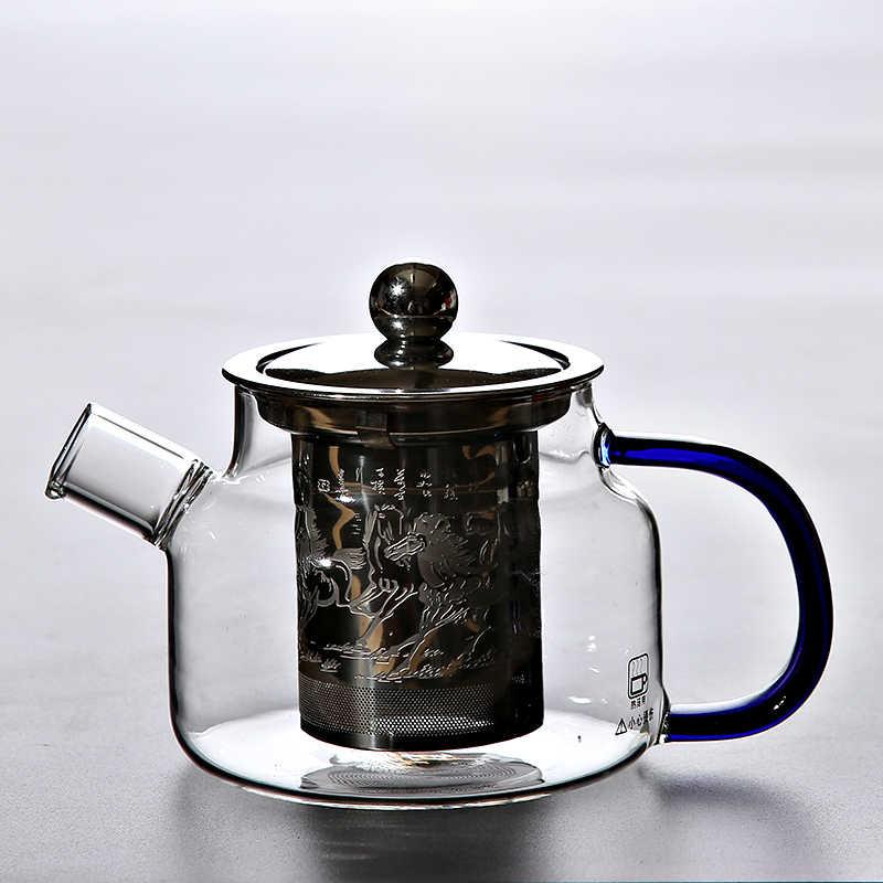 TANGPIN chịu nhiệt kính ấm trà với infuser ấm đun nước cho trà hoa nồi thủy tinh đặt