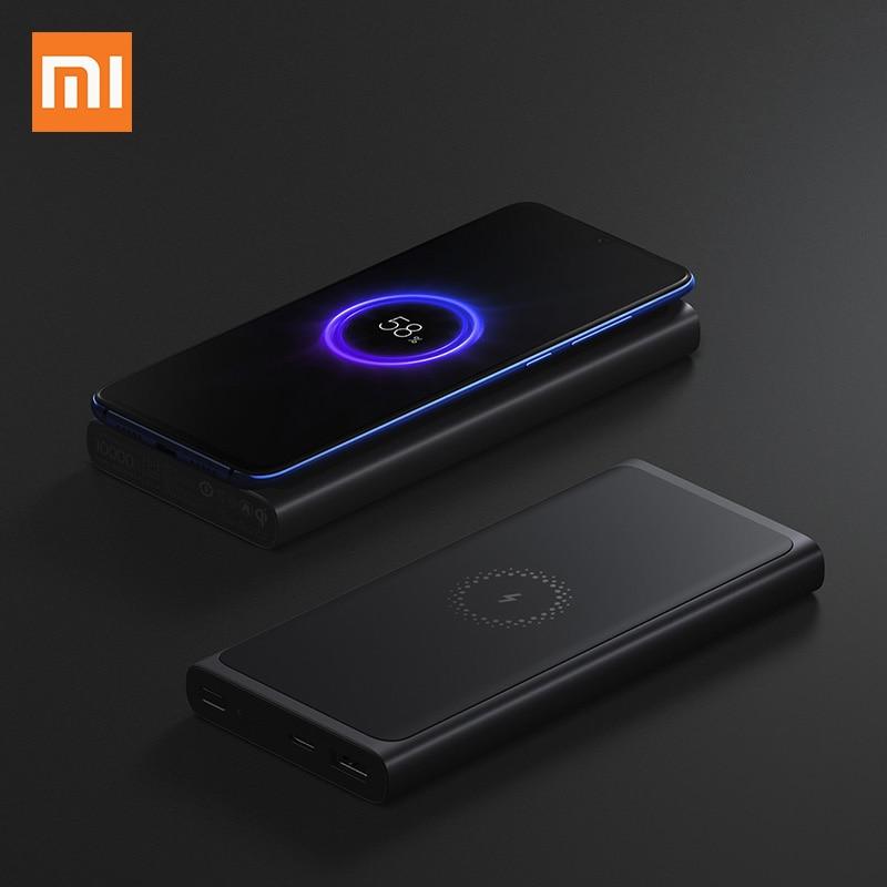 Xiao mi batterie externe sans fil 10000mAh PLM11ZM USB type C mi Powerbank 10000 Qi chargeur sans fil rapide chargeur Portable