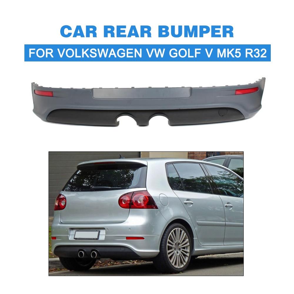PU UNpainted Gray Primer Car Rear Bumper For Volkswagen VW Golf V MK5 R32 Car Styling