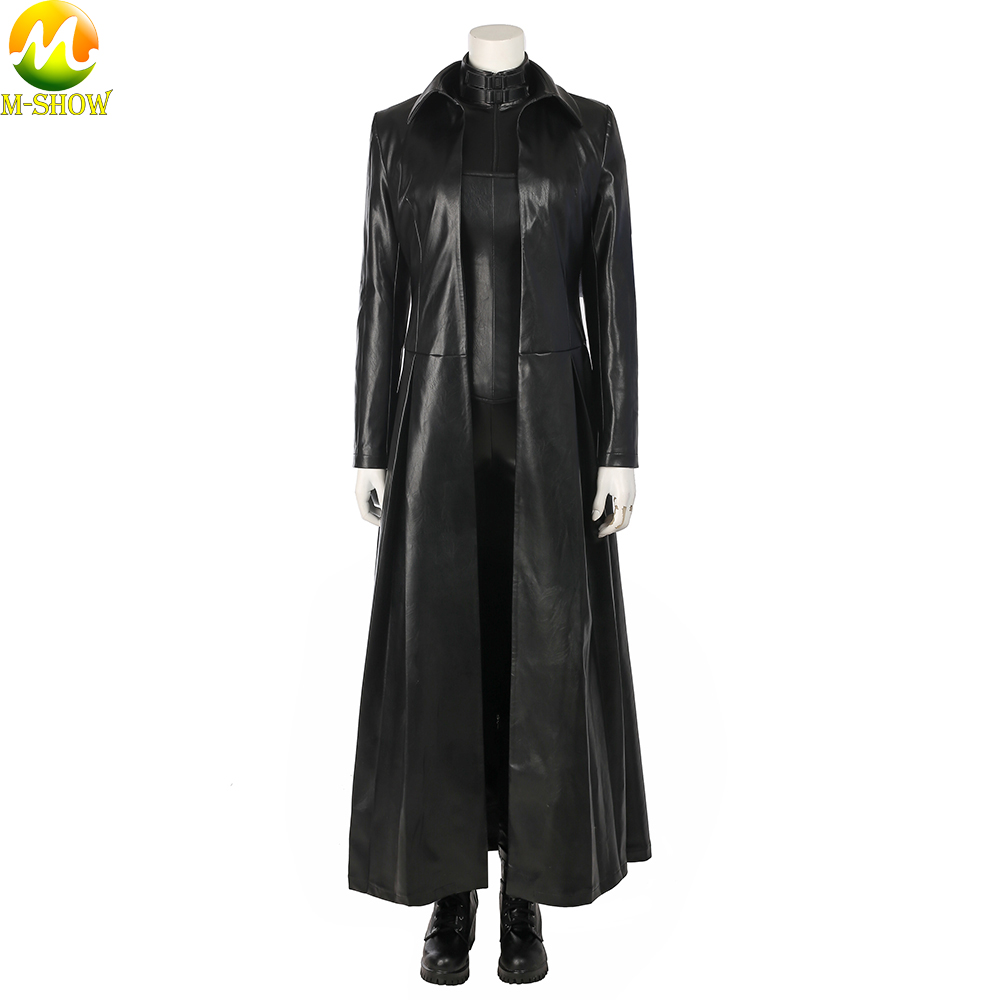 Underworld Blood Wars Selene Cosplay Costume Vampire Selena Cosplay Black Leather Clothing Jumpsuit Coat For Women