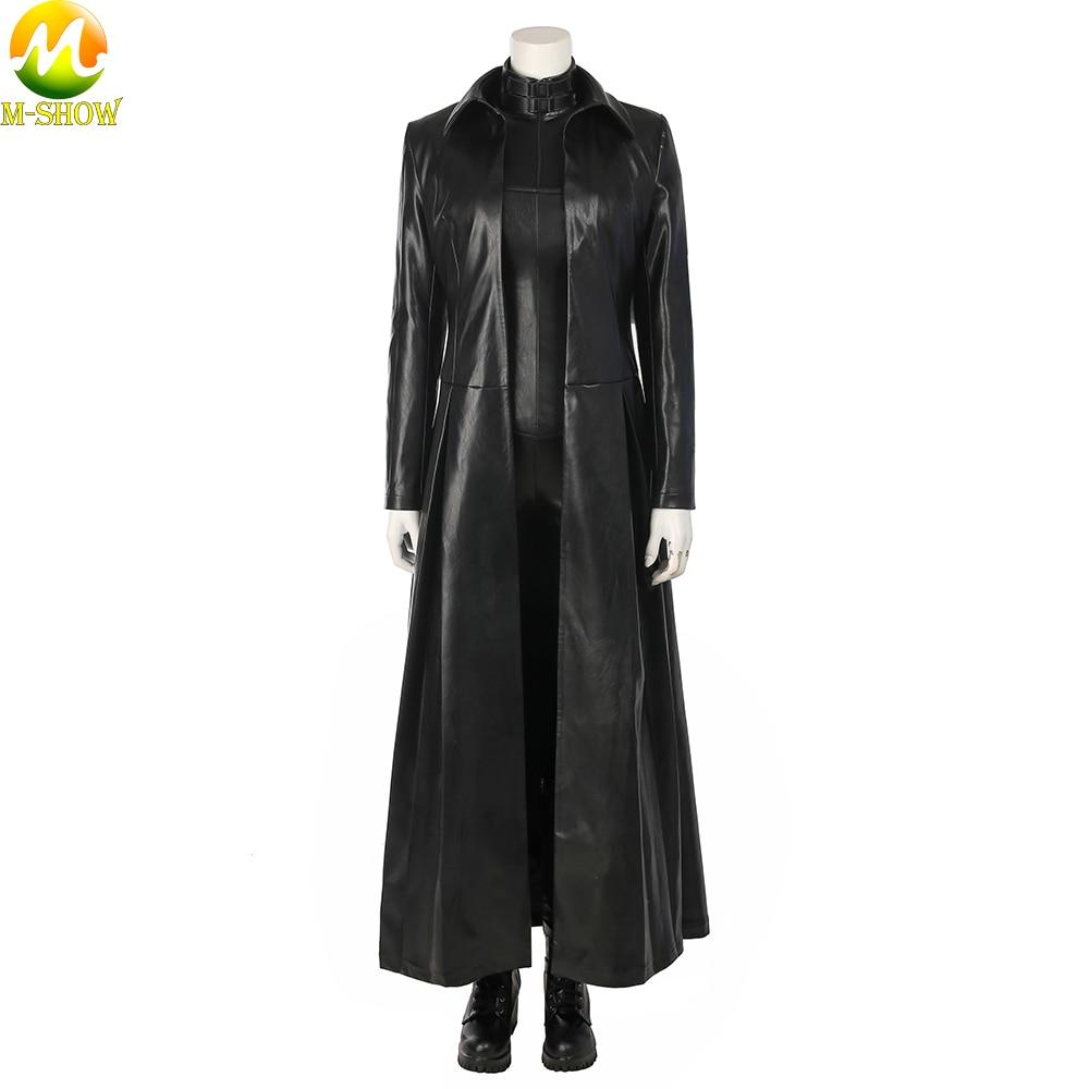 fe9b57635464 Underworld Blood Wars Selene Cosplay Costume Vampire Selena Cosplay Black  Leather Clothing Jumpsuit Coat For Women