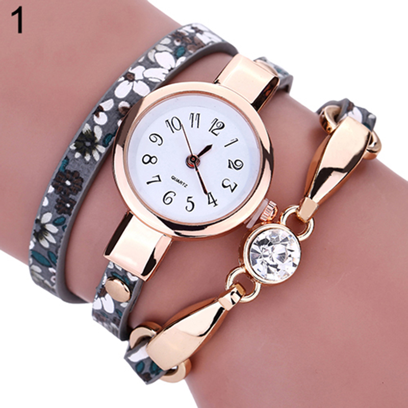 Top Brand Luxury Ladies Leather Wrap Watch Bracelets For
