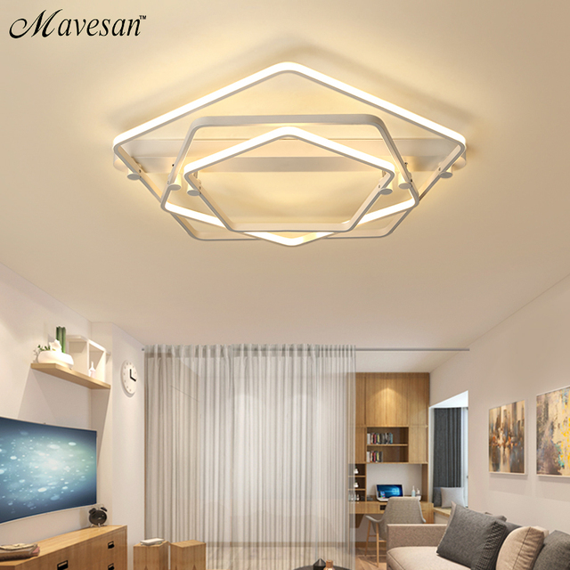 New Acrylic Modern Led Ceiling Chandelier Lights For Living Room Bedroom Dining  Room Home Chandelier Lamp