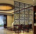 (6pieces a lot)Restaurant retro hollow carved wood decorative curtain hanging wall minimalist(A piece Size: 29*29*0.5cm)