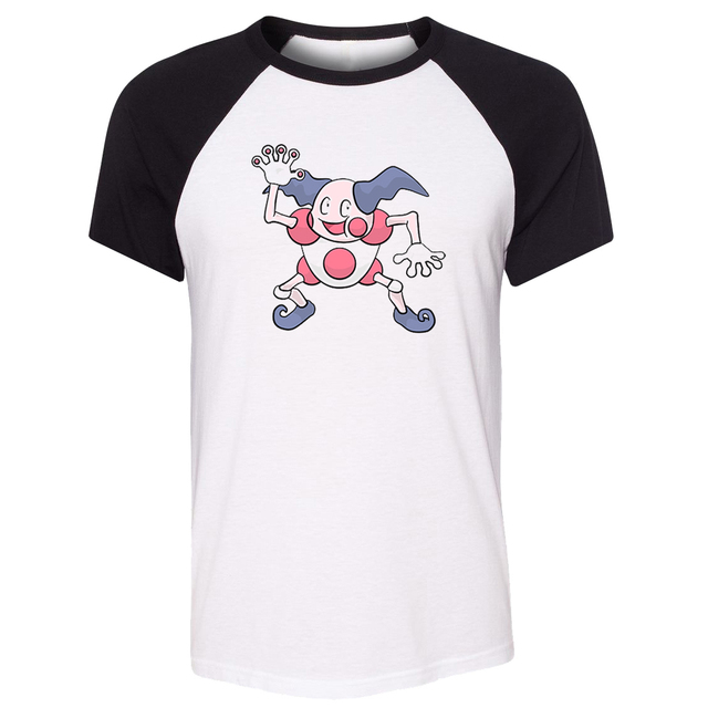 b8e81034 iDzn Unisex Summer T-shirt Cartoon Pokemon Mr. Mime Cute Clown Art Pattern  Design