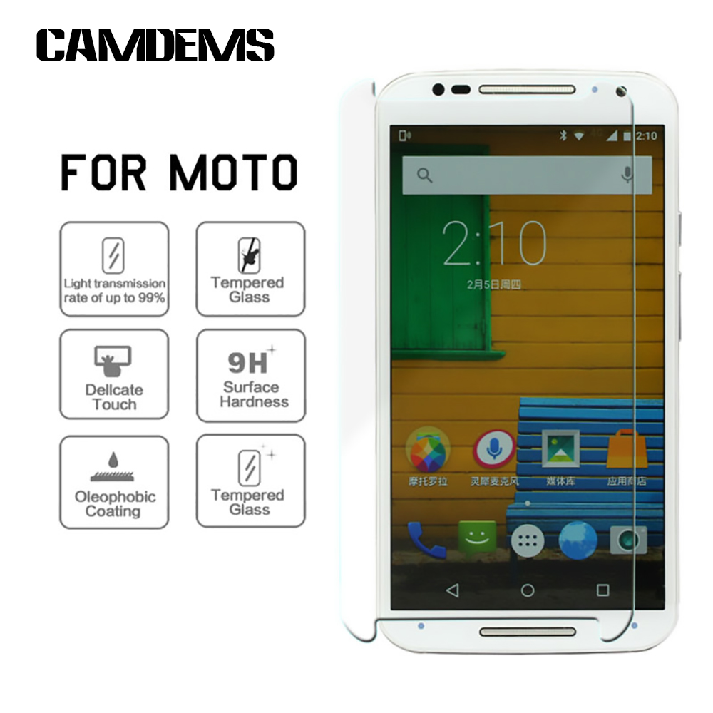 500pcs/lot For Motorola Moto G /G2/G3/X/X2/E /E2 /Xplay Thickness 2.5D 0.3MM 9H Explosion Proof Tempered Glass Screen Protector