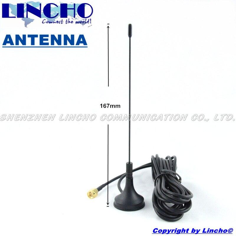 400-470 MHz uhf omni antenne de base magnétique, uhf talkie walkie antenne extension sma mâle connecteur avec 3 M câble