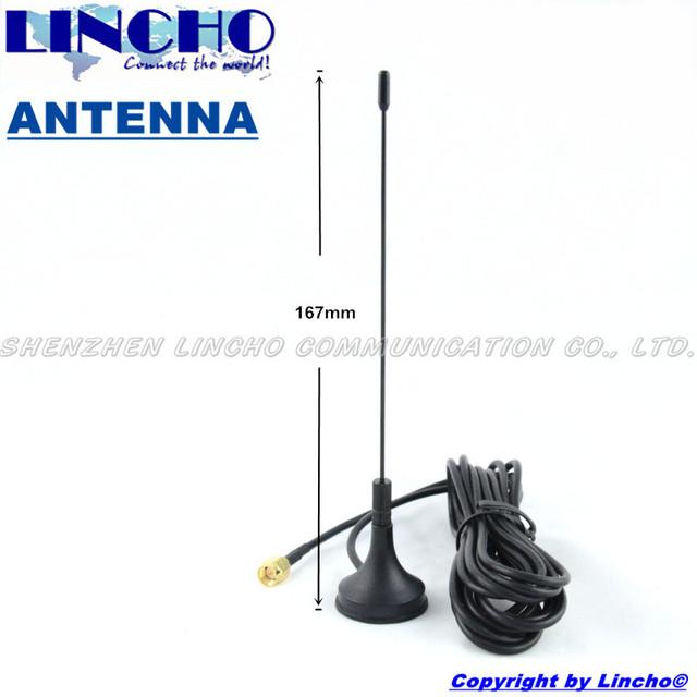 400-470 MHz uhf omnidireccional antena de base magnética, uhf walkie talkie antena sma conector macho con 3 M cable de extensión