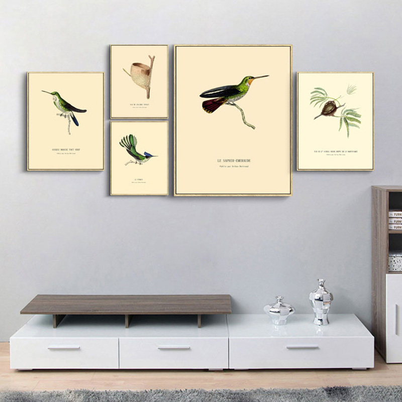 Nordic Living Room Decor Painting World Birds Animals Wall Pictures Canvas Art Print Poster Wall Painting