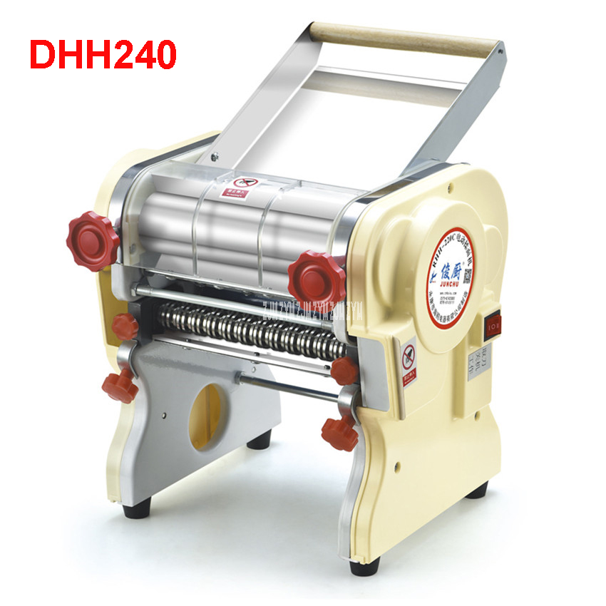 DHH240 Stainless steel household electric pasta pressing machine Ganmian mechanism commercial Electric Noodle Makers 24cm width vosoco commercial electric pasta cooker electric noodle machine 2000w stainless steel pasta boiler cooker electric heating furna