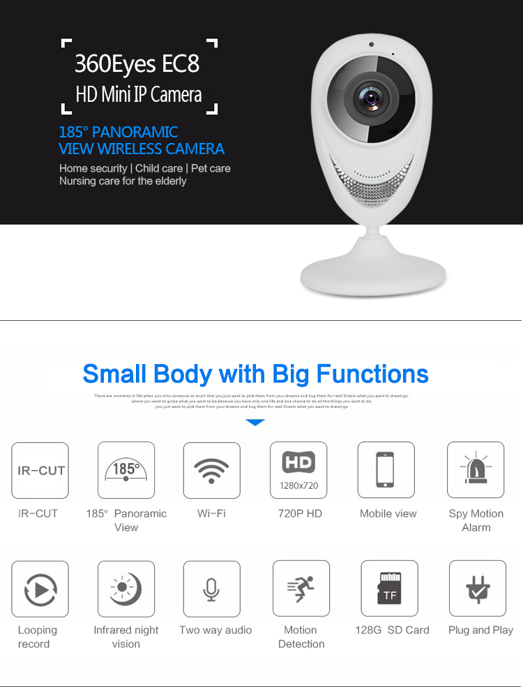 HD Wifi IP Camera 960P,1.3MP IR-Cut Night Vision Audio Recording support 128G TF card, Wi-fi Network Indoor Cameras ,sn:EC8-G6 hd wifi ip camera 720p 1 0mp ir cut night vision audio recording support 128g tf card wi fi network indoor cameras sn ec8 g6 page 5