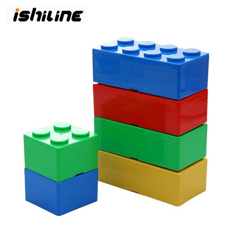 Stackable Storage Box Building Block Makeup Organizer Office Desktop Box Stationary Holder Space Saving Drawer Organizer Boxes