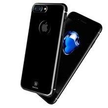 Оригинал BASEUS Jet черный чехол для Apple iPhone 7/7 Plus Роскошные Модные Тонкие полупрозрачные задняя крышка для Iphone 7 Hard Shell