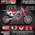 Customized Team Graphics Backgrounds Decals 3M Stickers For CR CRF 250 450 CR250F X CR450F X  Motorcycle Dirt Bike MX Enduro