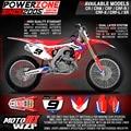 Equipe de Gráficos Fundos Decalques personalizados 3 M Adesivos Para CR CRF 250 450 CR250F X CR450F X Moto Dirt Bike MX Enduro