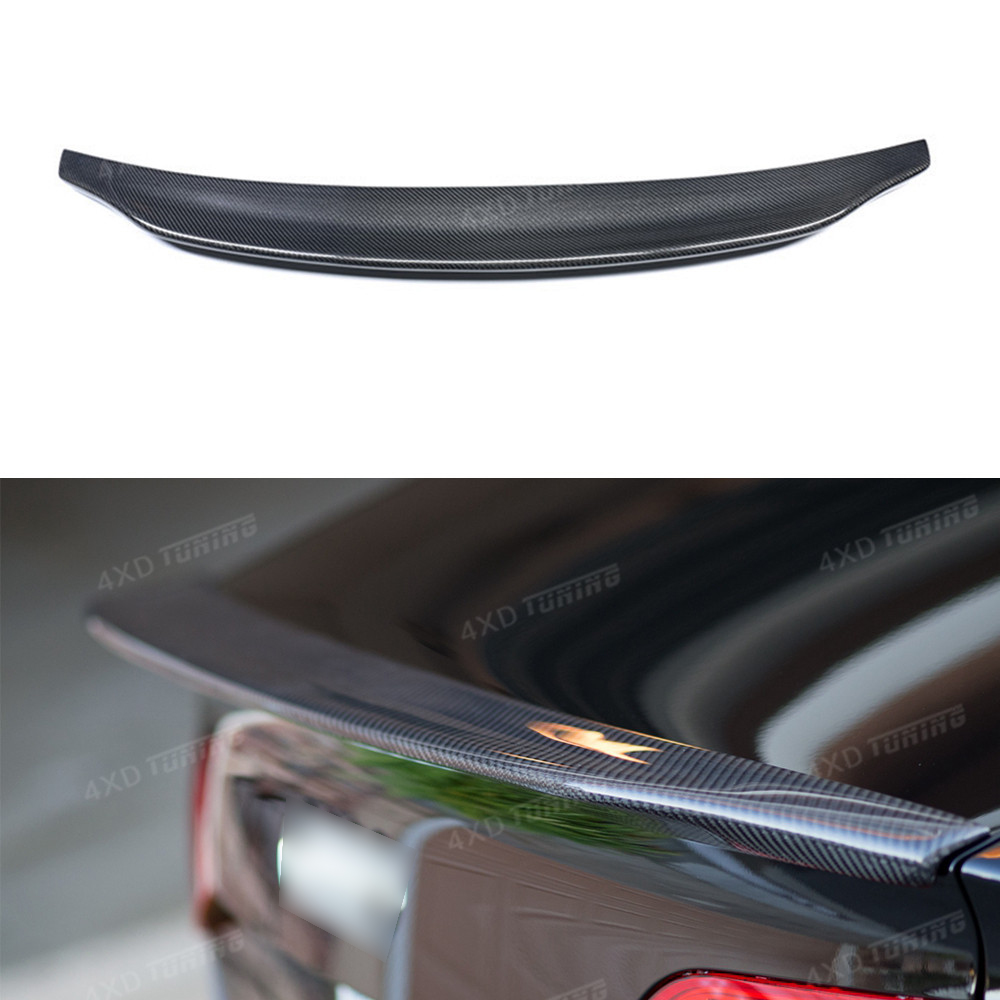For Audi A4 Carbon Spoiler Caractere Style A4 B8 car Carbon Fiber Rear Spoiler Rear Trunk wing Sedan 4-Doors 2009 2010 2011 2012 a4 b7 rear roof lip spoiler wing for audi a4 b7 2005 2008 carbon fiber abt style