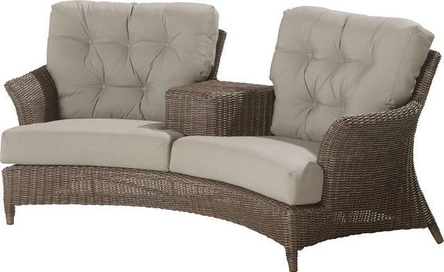 Rotan Lounge Stoel : Nieuwe ontwerp rotan strand liefde zetel zon lounge stoel in