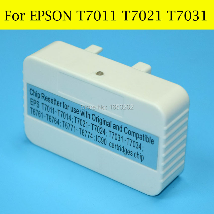 1 Piece Chip Resetter For Epson T7011 T7021 T7031 For EPSON WorkForce Pro WP-4535DWF WP-4515DN WP-4545DTW WP-4595DTWF Printer