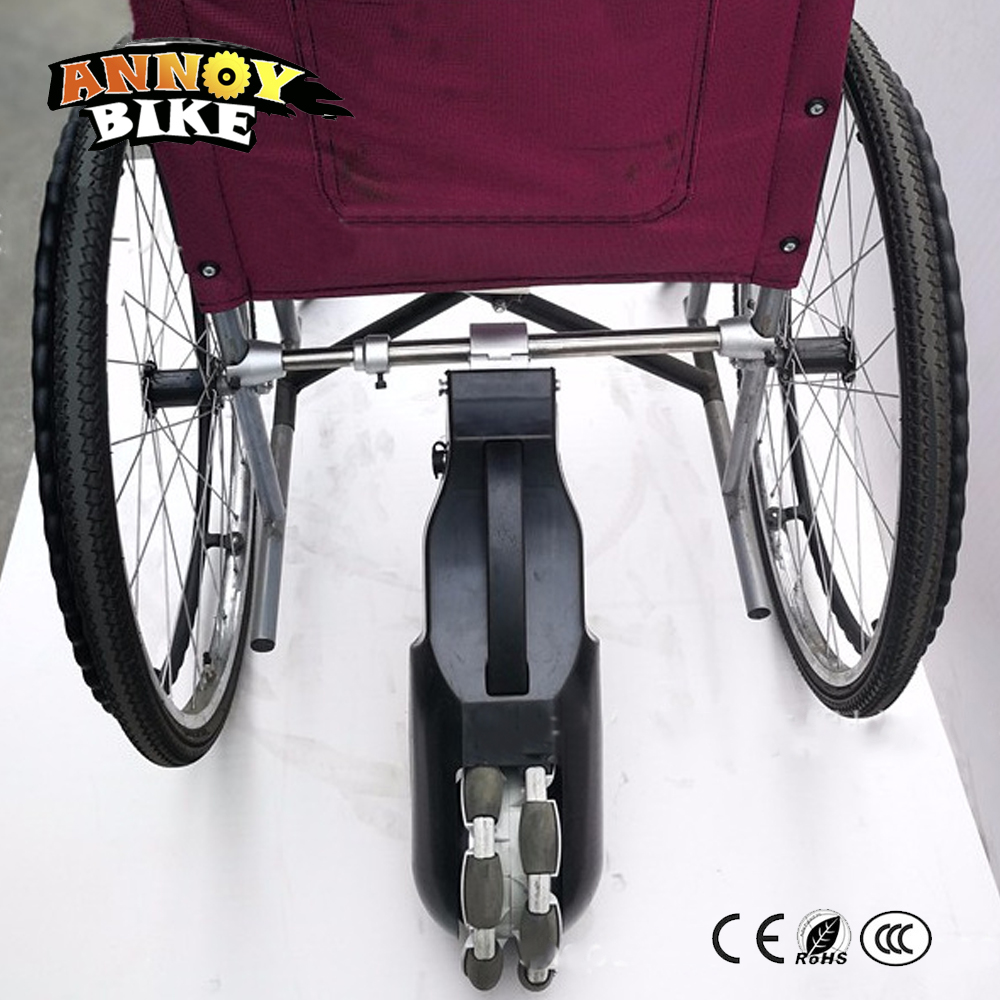 24V 250W 8 inch Gear Motor Electric Wheelchair Tractor DIY Rear power assisted intelligent Electric Wheelchair Conversion Kits outdoor folding power motorized handicapped electric wheelchair