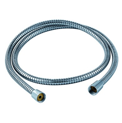 Free ship chrome Stainless Steel 1/2 Inch Bath Shower Flexible Hose Pipe Fitting Bathroom Product 1.5m=59 Length