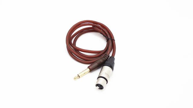 microphone wire cord - xlr female to jack 6 35 / 6 5 mm ( 1/4