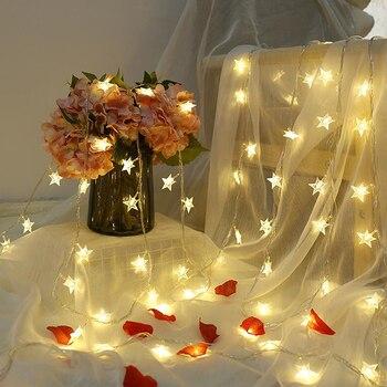 220V/USB/Batterie Betrieben Stern String Lichter LED Lichterkette Weihnachten Party Hochzeit Dekoration Lichter Bedienen Twinkle Lichter