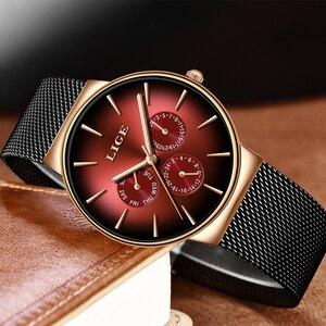 Image 3 - 2019LIGE nowa kobiety oglądać najlepsze marki luksusowe kreatywny Dial kobiety bransoletka zegarek dla pań zegarek Montre Femme Relogio Feminino