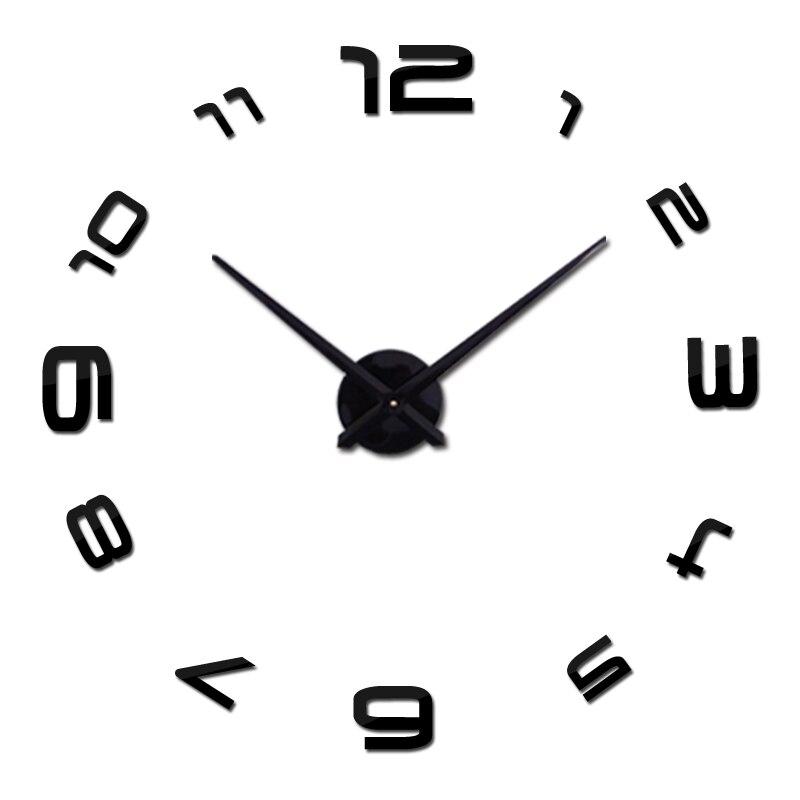 Diy 3d akrylové nástěnné hodiny Hodiny Hodiny Murale evropa Kruhové jehly Zrcadlo Velké domácí dekorace Horké