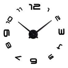 Diy 3d Acrylic Wall Clock Clocks Watch Horloge Murale europe Circular Needle Mirror Large Home Decoration Hot