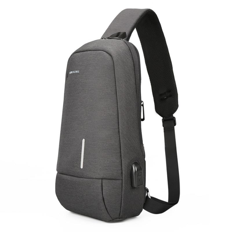 Kingsons Men's Messenger Bag Male USB Charging Men Crossbody Shoulder Bag Casual Back Pack for Teenager Boys Travel Bag KS3173W