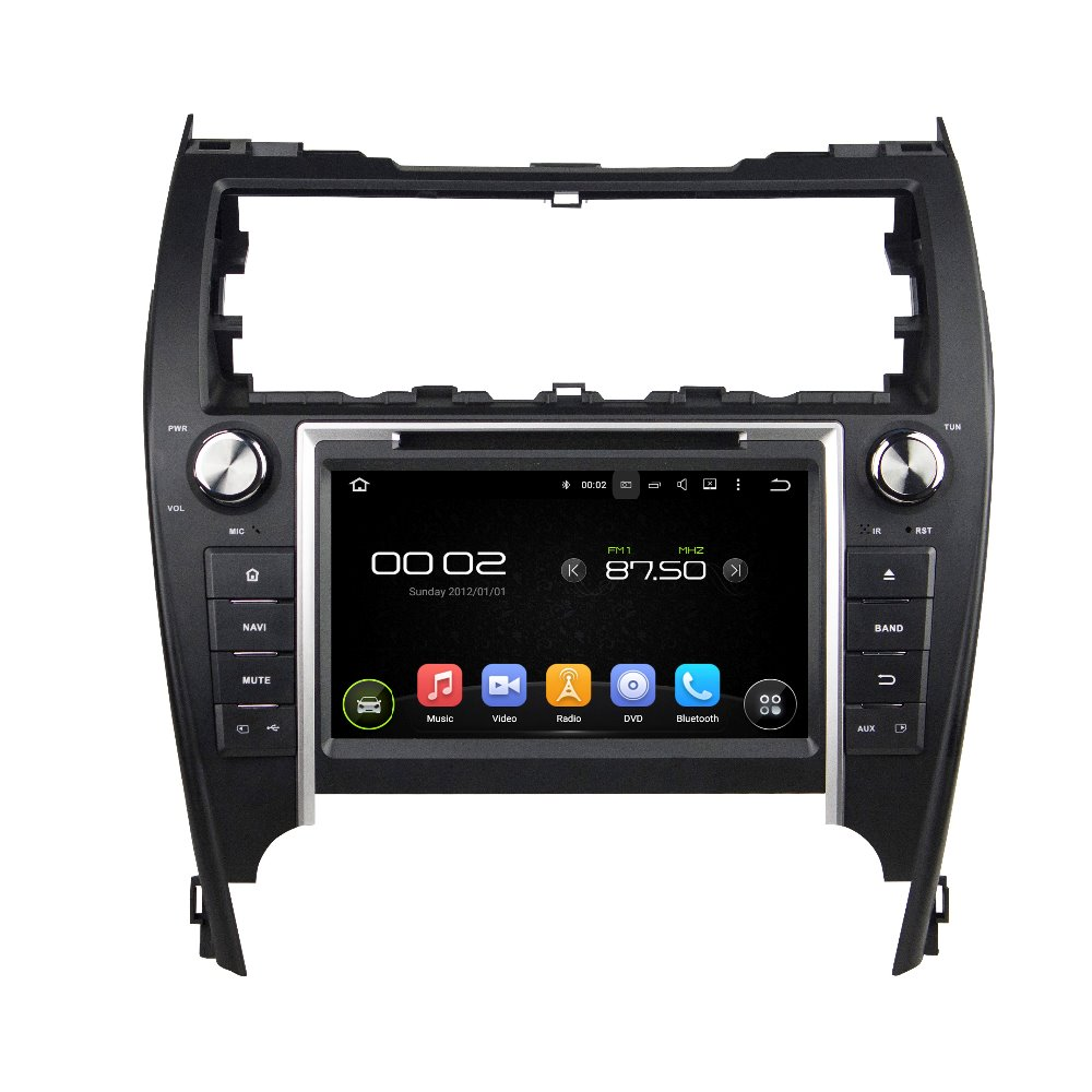 otojeta car dvd player for toyota CAMRY 2012 USA MIDDLE EAST OCTA CORE ANDROID 6.0 auto gps stereo BT/radio/dvr/obd2/tpms/camera